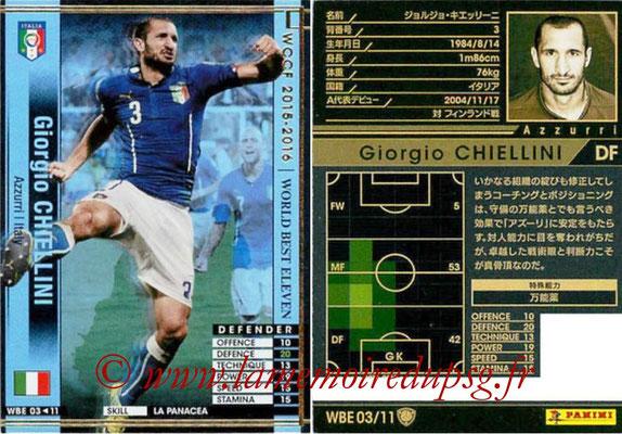 2015-16 - Panini WCCF - N° WBE03 - Giorgio CHIELLINI (Italie) (World Best Eleven)