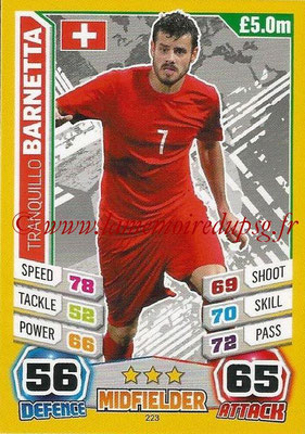 Topps Match Attax England 2014 - N° 223 - Tranquillo BARNETTA (Suisse)