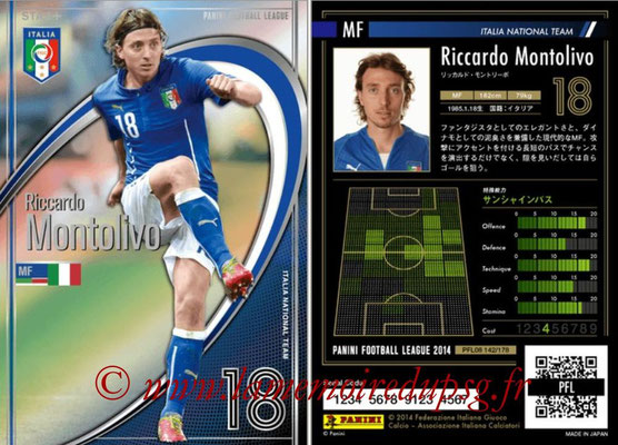Panini Football League 2014 - PFL08 - N° 142 - Riccardo MONTOLIVO (Italie) (Star +)