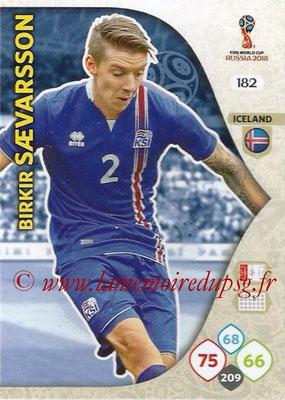 2018 - Panini FIFA World Cup Russia Adrenalyn XL - N° 182 - Birkir SAEVARSSON (Islande)