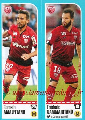 2016-17 - Panini Ligue 1 Stickers - N° 184 + 185 - Romain AMALFITANO + Frédéric SAMMARITANO (Dijon)
