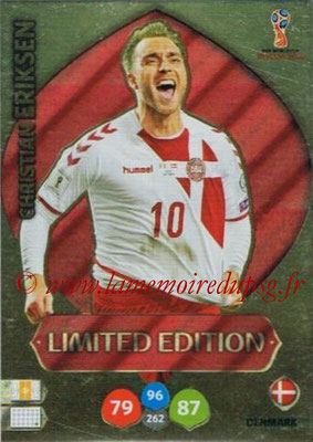 2018 - Panini FIFA World Cup Russia Adrenalyn XL - N° LE-CE - Christian ERIKSEN (Danemark) (Limited Edition)