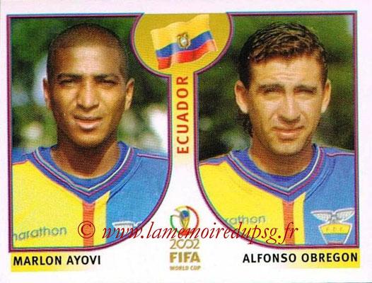 2002 - Panini FIFA World Cup Stickers - N° 516 - Marlon AYOVI + Alfonso OBREGON (Equateur)