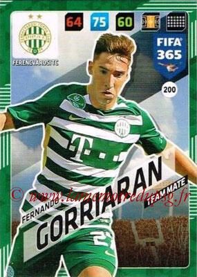 2017-18 - Panini FIFA 365 Cards - N° 200 - Fernando GORRIARAN (Ferencvaros TC)