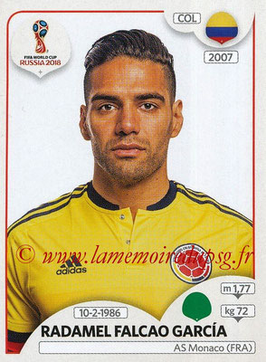 2018 - Panini FIFA World Cup Russia Stickers - N° 646 - Radamel FALCAO (Colombie)