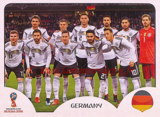 2018 - Panini FIFA World Cup Russia Stickers - N° 433 - Equipe Allemagne