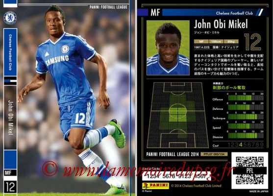 Panini Football League 2014 - PFL07 - N° 065 - John OBI MIKEL (Chelsea FC)