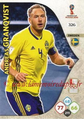2018 - Panini FIFA World Cup Russia Adrenalyn XL - N° 326 - Andreas GRANQVIST (Suède)