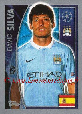 2015-16 - Topps UEFA Champions League Stickers - N° 255 - David SILVA (Manchester City FC)