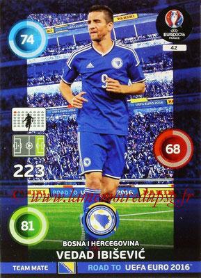 Panini Road to Euro 2016 Cards - N° 042 - Vedad IBISEVIC (Bosnie Herzegovine)