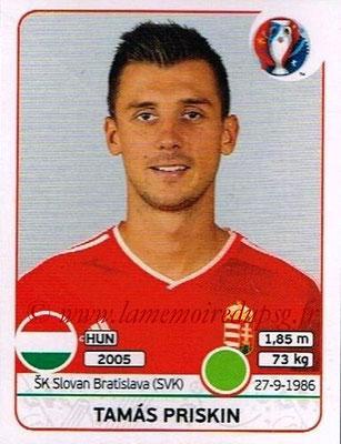 Panini Euro 2016 Stickers - N° 679 - Tamas PRISKIN (Hongrie)