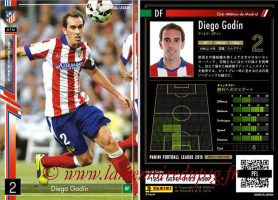 Panini Football League 2015 - PFL11 - N° 041 - Diego GODIN (Atletico Madrid)