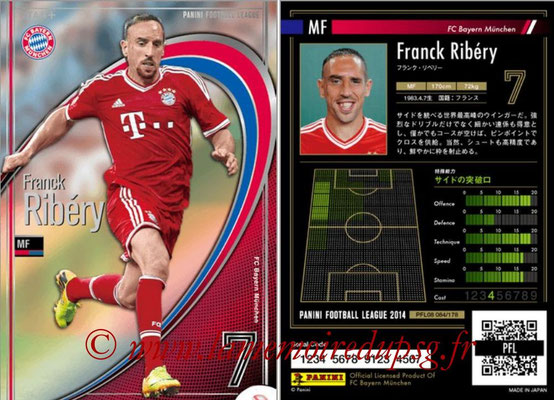 Panini Football League 2014 - PFL08 - N° 083 - Franck RIBERY (Bayern Munich) (Star +)