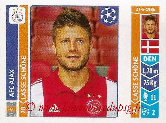 2014-15 - Panini Champions League N° 461 - Lasse SCHONE (AFC Ajax)