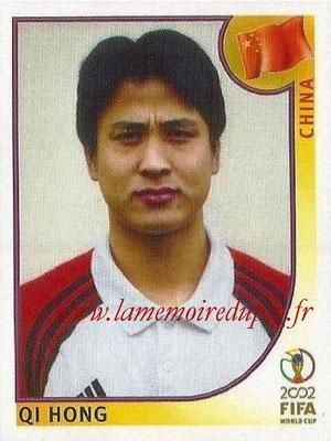 2002 - Panini FIFA World Cup Stickers - N° 214 - Qi HONG (Chine)