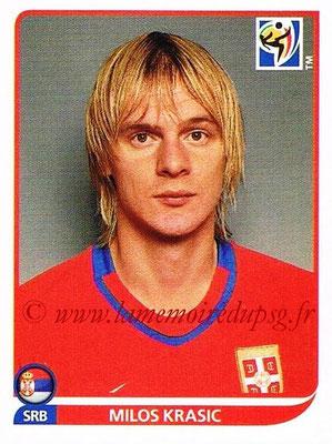 2010 - Panini FIFA World Cup South Africa Stickers - N° 309 - Milos KRASIC (Serbie)