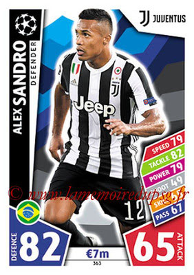 2017-18 - Topps UEFA Champions League Match Attax - N° 363 - Alex SANDRO (Juventus)