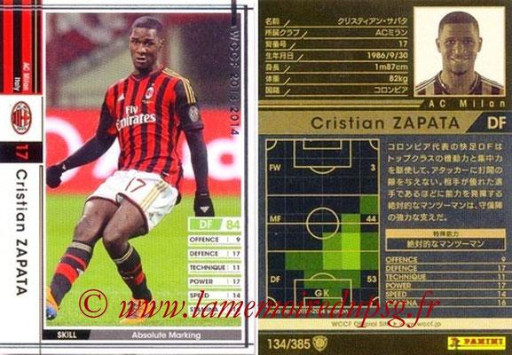 2013-14 - WCCF - N° 134 - Cristian ZAPATA (Milan AC)
