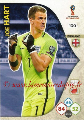 2018 - Panini FIFA World Cup Russia Adrenalyn XL - N° 100 - Joe HART (Angleterre)