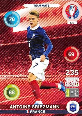 Panini Euro 2016 Cards - N° 129 - Antoine GRIEZMANN (France)