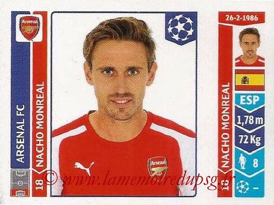 2014-15 - Panini Champions League N° 257 - Nacho MONREAL (Arsenal FC)