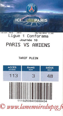 Tickets  PSG-Amiens  2018-19