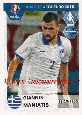 Panini Road to Euro 2016 Stickers - N° 120 - Giannis MANIATIS (Grèce)