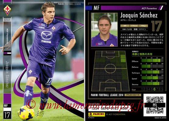 Panini Football League 2014 - PFL08 - N° 030 - Joaquin SANCHEZ (Fiorentina) (Star)