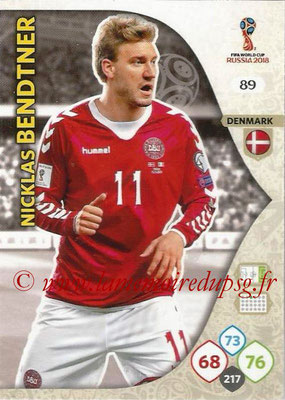 2018 - Panini FIFA World Cup Russia Adrenalyn XL - N° 089 - Nicklas BENDTNER (Danemark)