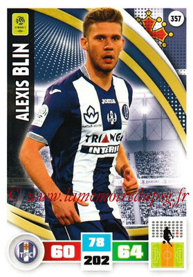 2016-17 - Panini Adrenalyn XL Ligue 1 - N° 357 - Alexis BLIN (Toulouse)