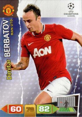 2011-12 - Panini Champions League Cards - N° 154 - Dimitar BERBATOV (Manchester United FC)