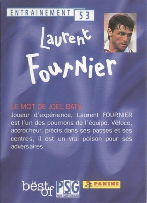 N° 053 - Laurent FOURNIER (Verso)