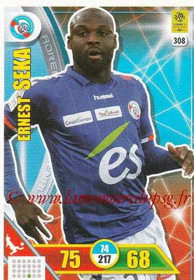 2017-18 - Panini Adrenalyn XL Ligue 1 - N° 308 - Ersnest SEKA (Strasbourg)