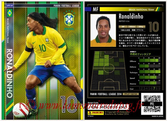 Panini Football League 2014 - PFL07 - N° 132 - RONALDINHO (Bresil) (Super MF)