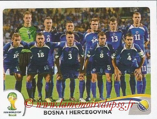 2014 - Panini FIFA World Cup Brazil Stickers - N° 432 - Equipe Bosnie Herzegovine