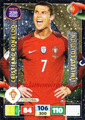2018 - Panini Road to FIFA World Cup Russia Adrenalyn XL - N° LE-CR - Cristiano RONALDO (Portugal) (Limited Edition)