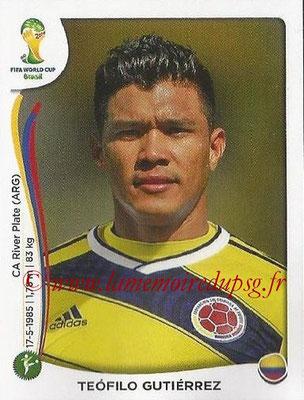 2014 - Panini FIFA World Cup Brazil Stickers - N° 200 - Teofilo GUTIERREZ (Colombie)