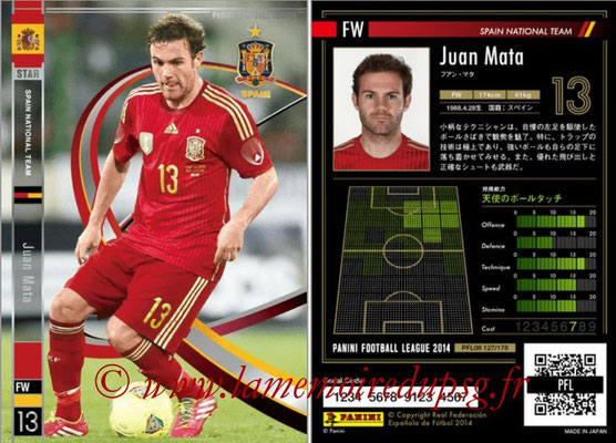 Panini Football League 2014 - PFL08 - N° 127 - Juan MATA (Espagne) (Star)