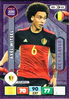 2018 - Panini Road to FIFA World Cup Russia Adrenalyn XL - N° BEL05 - Axel WITSEL (Belgique) (Key Player)