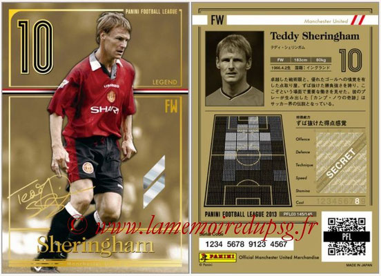Panini Football League 2013 - PFL03 - N° 145 - Teddy Sheringham (Manchester United) (Legend)