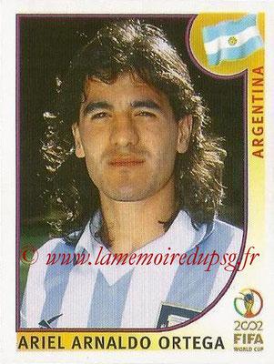 2002 - Panini FIFA World Cup Stickers - N° 399 - Ariel Arnaldo ORTEGA (Argentine)