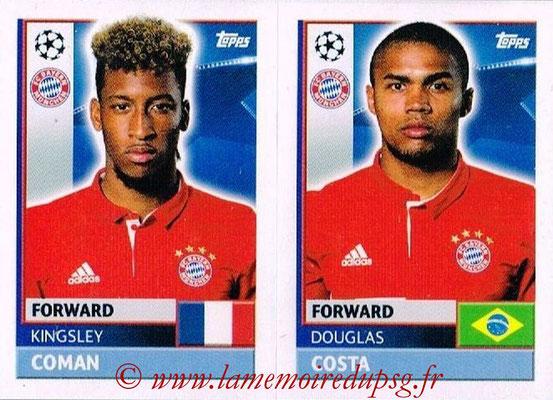 2016-17 - Topps UEFA Champions League Stickers - N° BMU 16-17 - Douglas COSTA + Kingsley COMAN (FC Bayern Munich)