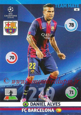 2014-15 - Adrenalyn XL champions League N° 066 - Daniel ALVES (FC Barcelone)