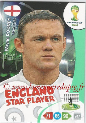 2014 - Panini FIFA World Cup Brazil Adrenalyn XL - N° 139 - Wayne ROONEY (Angleterre) (Star Player)