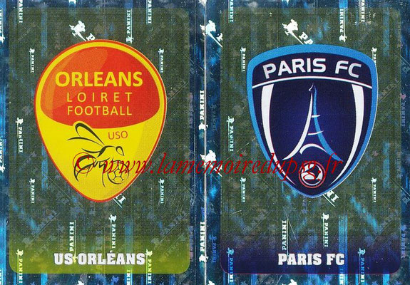 2018-19 - Panini Ligue 1 Stickers - N° 550 - Ecussons US Orleans + Paris FC