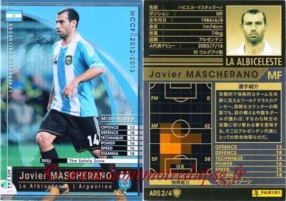 2012-13 - WCCF - N° ARS2 - Javier MASCHERANO (Argentine)
