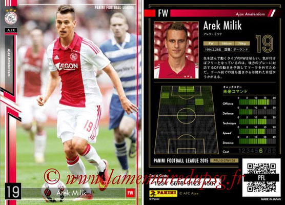 Panini Football League 2015 - PFL10 - N° 079 - Arek MILIK (Ajax)