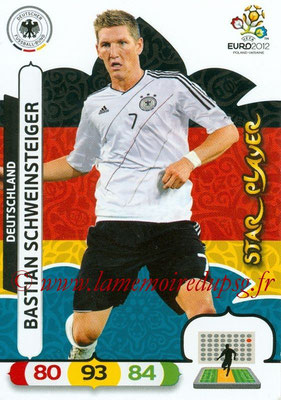 Panini Euro 2012 Cards Adrenalyn XL - N° 034 - Bastian SCHWEINSTEIGER (Allemagne) (Star Player)