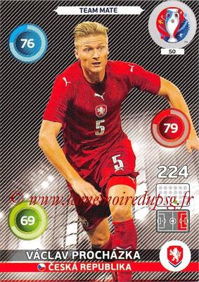 Panini Euro 2016 Cards - N° 050 - Vaclav PROCHAZKA (République Tchèque)