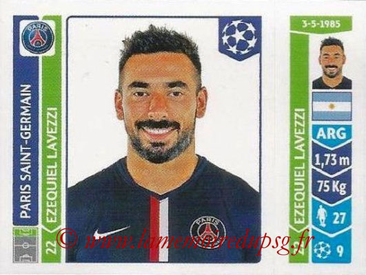 2014-15 - Panini Champions League N° 445 - Ezequiel LAVEZZI (Paris Saint-Germain)